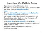 importing a word table to access1