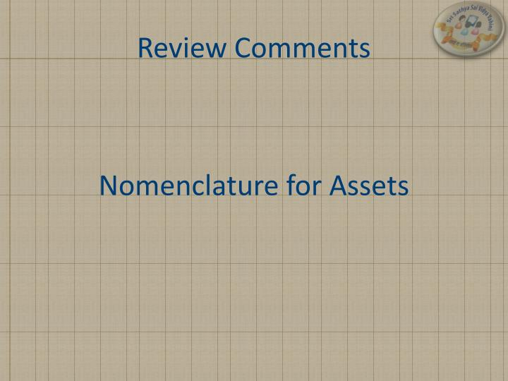 review comments n.