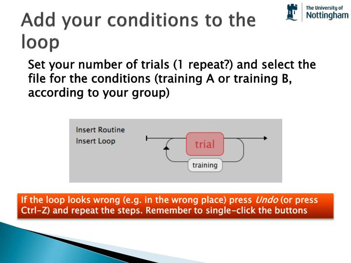 Add your conditions to the loop