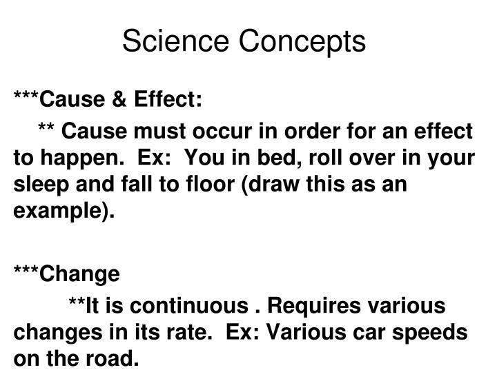 Science Concepts
