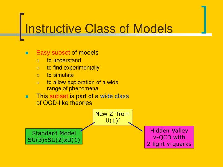 Instructive Class of Models