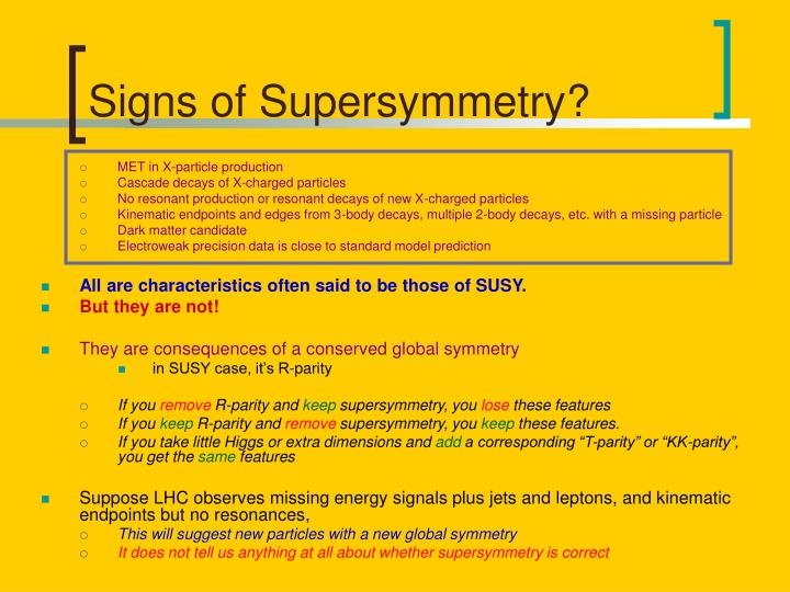 Signs of Supersymmetry?