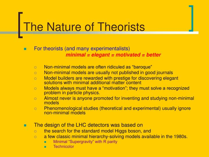 The nature of theorists