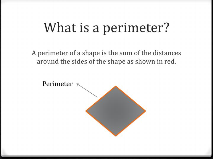 What is a perimeter