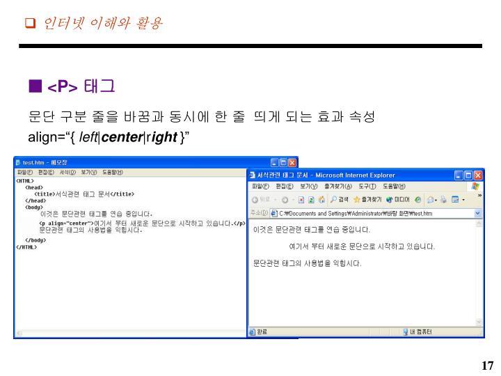인터넷 이해와 활용