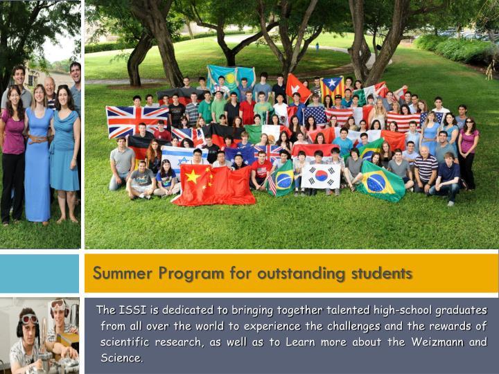 Summer program for outstanding students