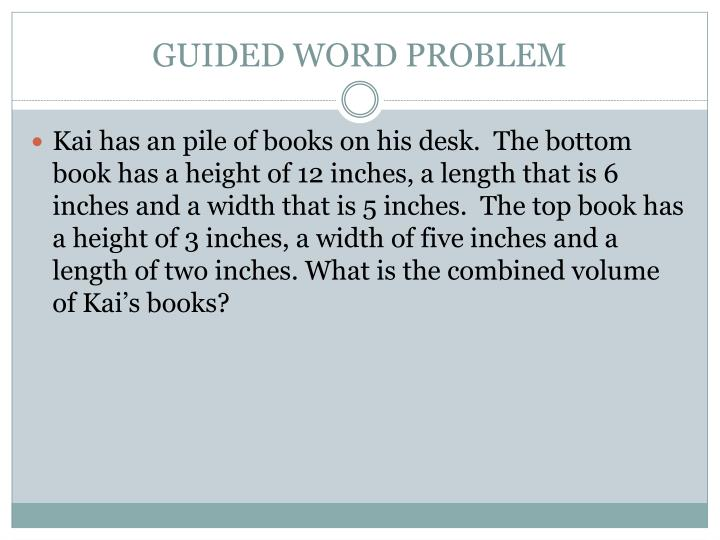 GUIDED WORD PROBLEM