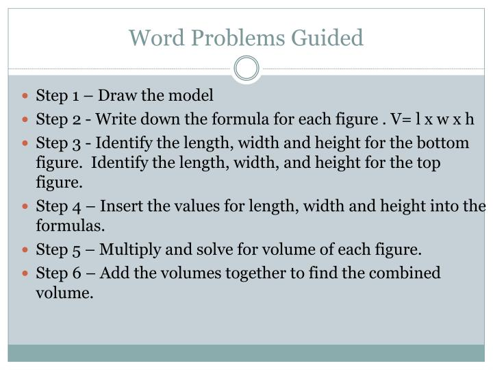 Word Problems Guided