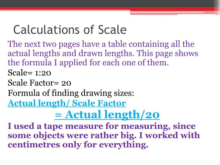 Calculations of Scale