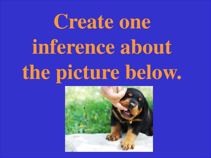 Create one inference about the picture below.