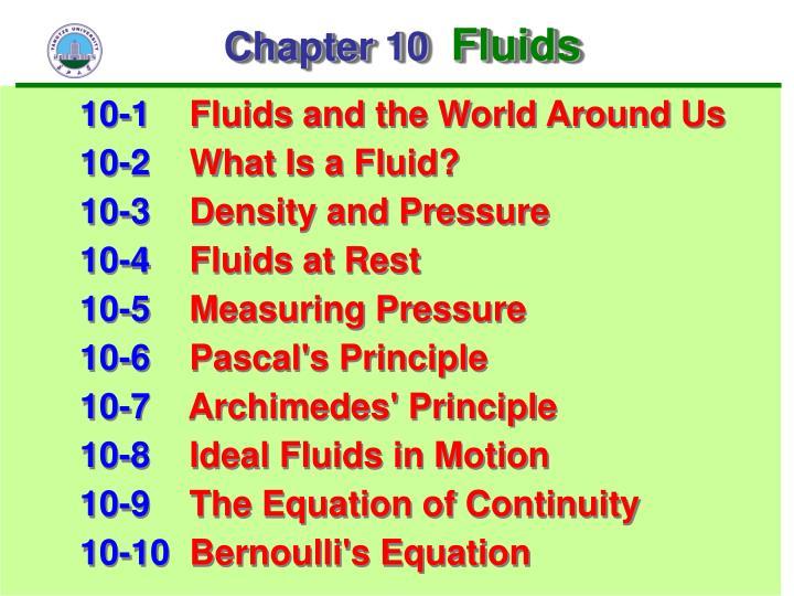 Chapter 10 fluids