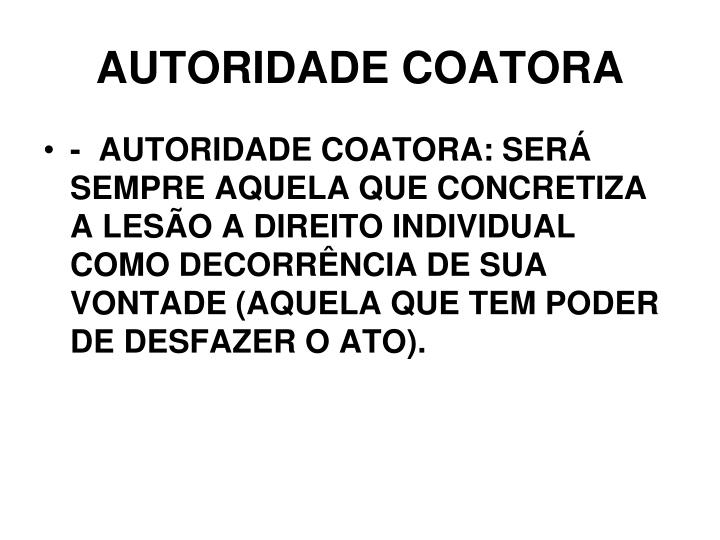 AUTORIDADE COATORA