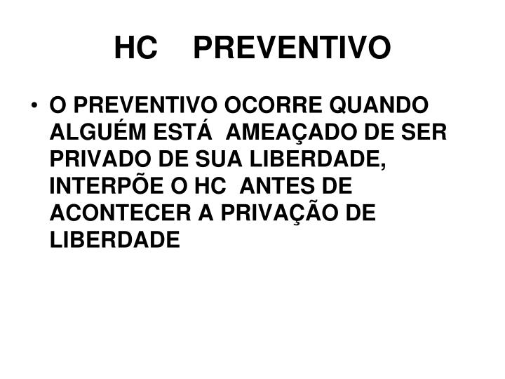 HC    PREVENTIVO