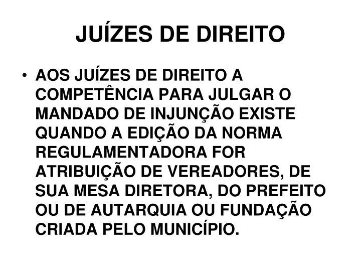 JUÍZES DE DIREITO