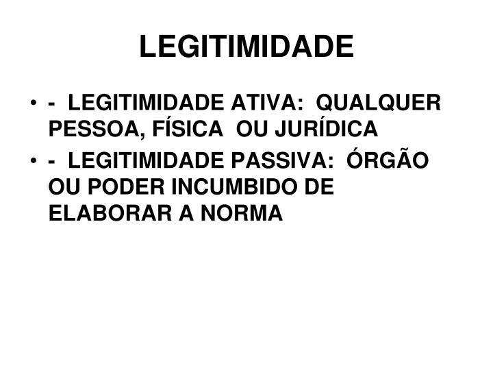 LEGITIMIDADE