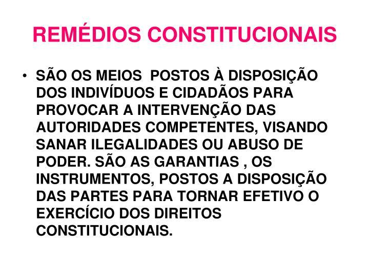 Rem dios constitucionais