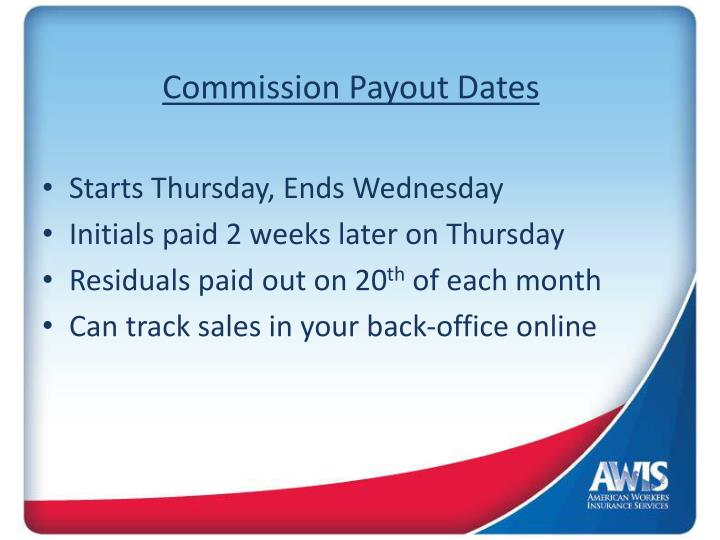 commission payout dates n.