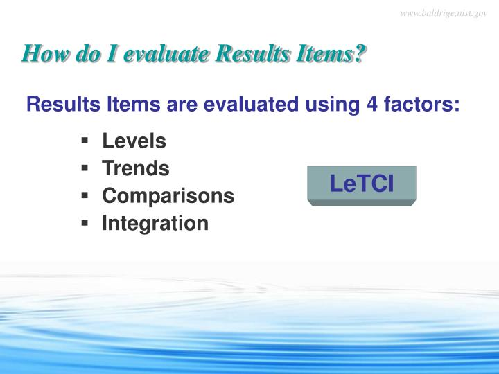 How do I evaluate Results Items?