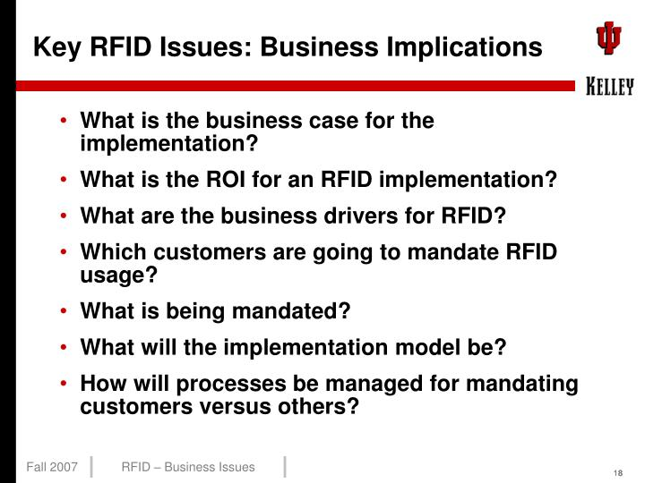 Key RFID Issues: Business Implications