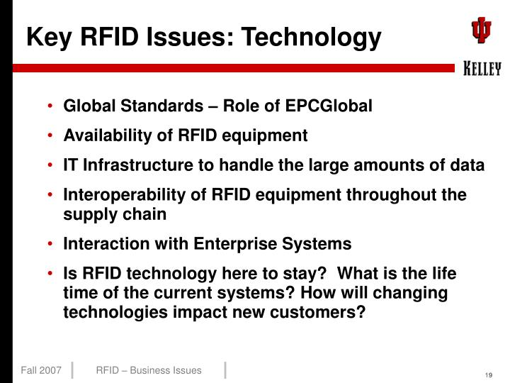 Key RFID Issues: Technology