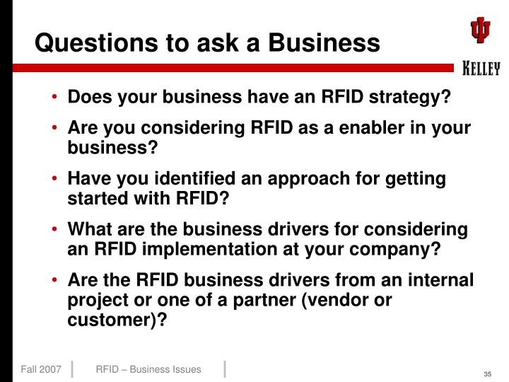 Questions to ask a Business
