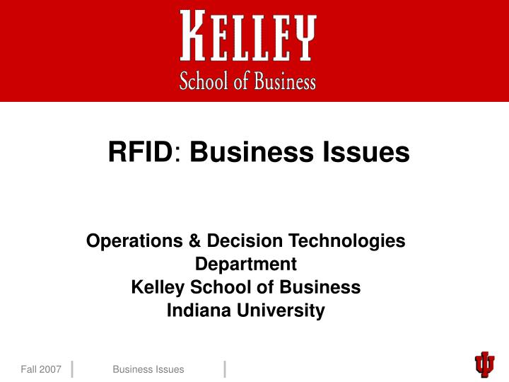 Rfid business issues