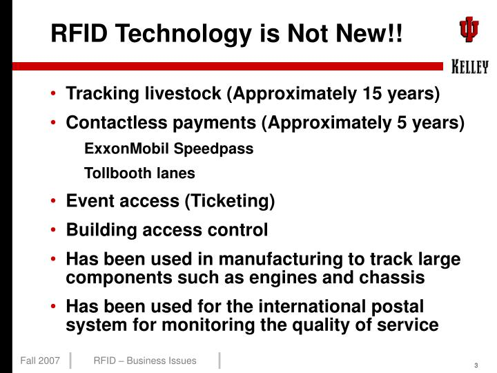 Rfid technology is not new