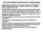 az els eur pai szervezetek mozgalmak