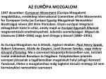 az eur pa mozgalom