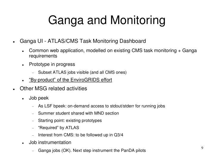Ganga and Monitoring