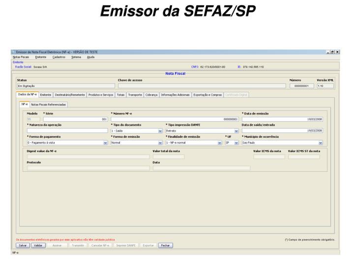 Emissor da SEFAZ/SP