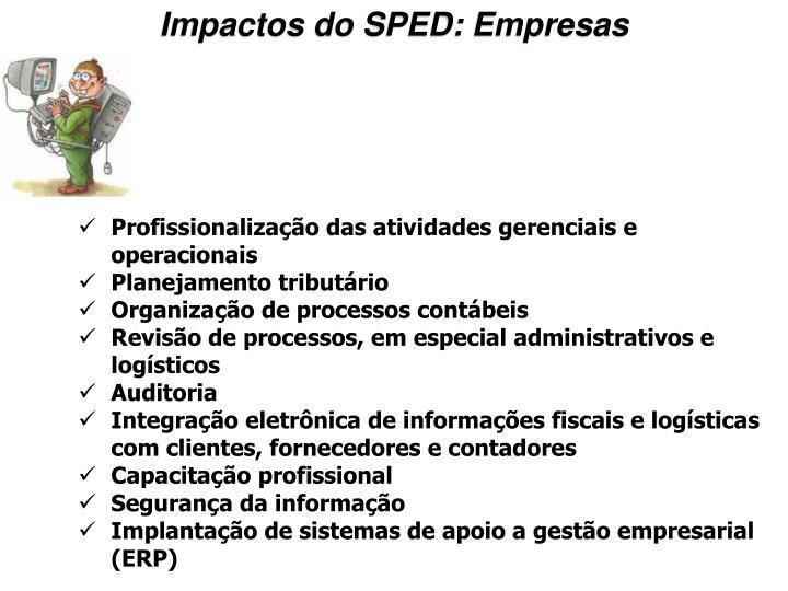 Impactos do SPED: Empresas