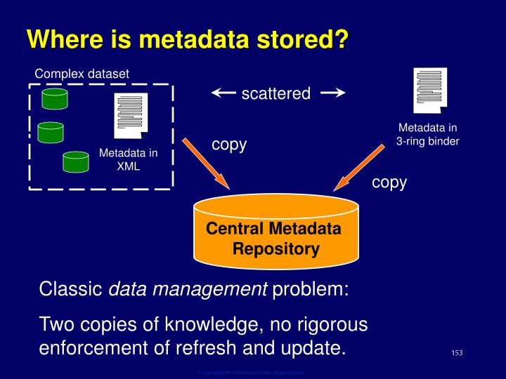 Where is metadata stored?