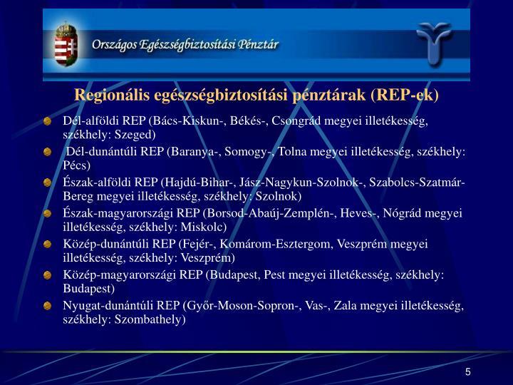 Regionális egészségbiztosítási pénztárak (REP-ek)
