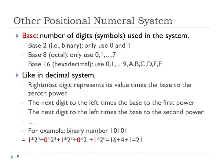 Other Positional Numeral System