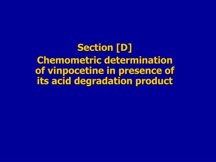 Section [D]
