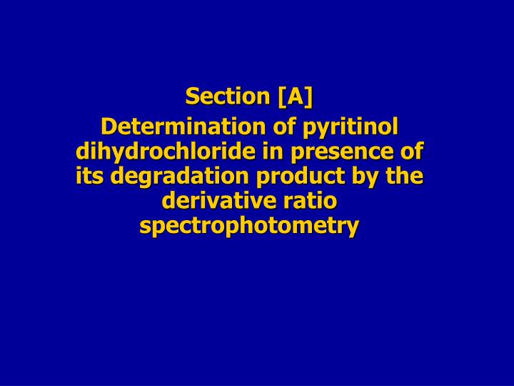 Section [A]
