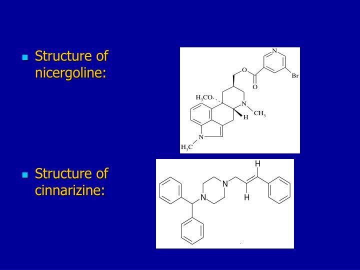 Structure of nicergoline: