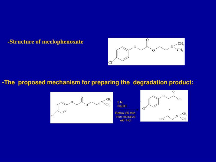 -Structure of meclophenoxate