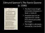 edmund spenser s the faerie queene c 1590
