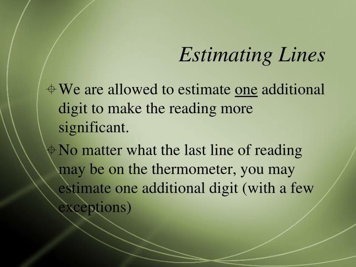 Estimating Lines
