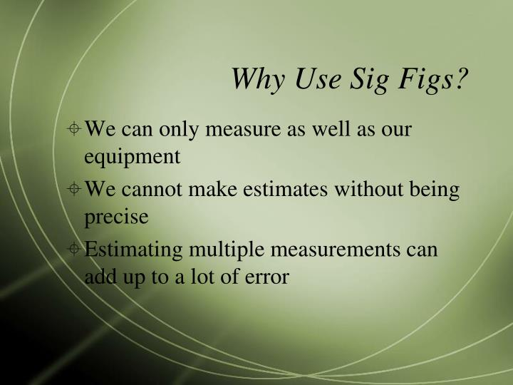 Why Use Sig Figs?