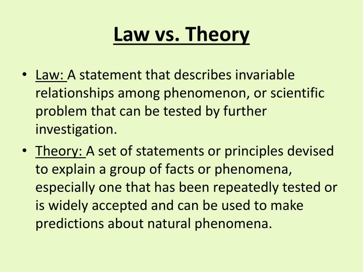 Law vs. Theory