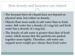 how density and buoyancy are related