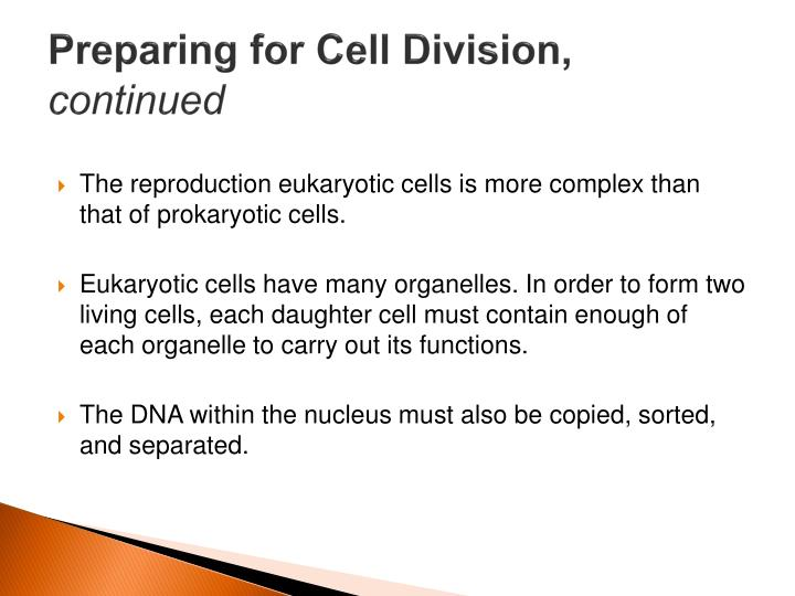 Preparing for Cell Division,