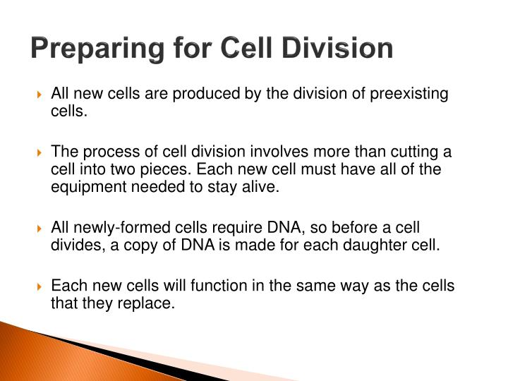Preparing for Cell Division