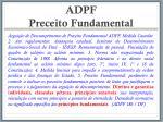 adpf preceito fundamental