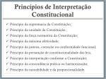 princ pios de interpreta o constitucional