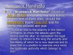 brunswick manifesto