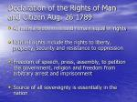declaration of the rights of man and citizen aug 26 1789